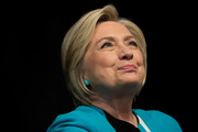 Hillary Clinton wore her hair in a neat bob while signing copies of her new book.