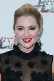 Katherine Bailess styled her hair into an elegant ponytail for the premiere of 'Hit the Floor' season 4.