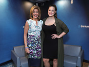 Ashley Graham teamed a fitted LBD with an army-green duster for the SiriusXM Leading Ladies event.