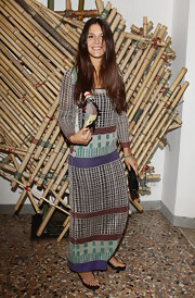 Margherita Missoni Showed Yet Again Her Love For Prints With This Colorful Maxi Dress At The