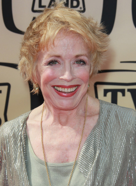 Holland Taylor Messy Cut [hair,face,blond,hairstyle,facial expression,eyebrow,skin,head,lady,lip,arrivals,holland taylor,tv land awards,culver city,california,sony studios]
