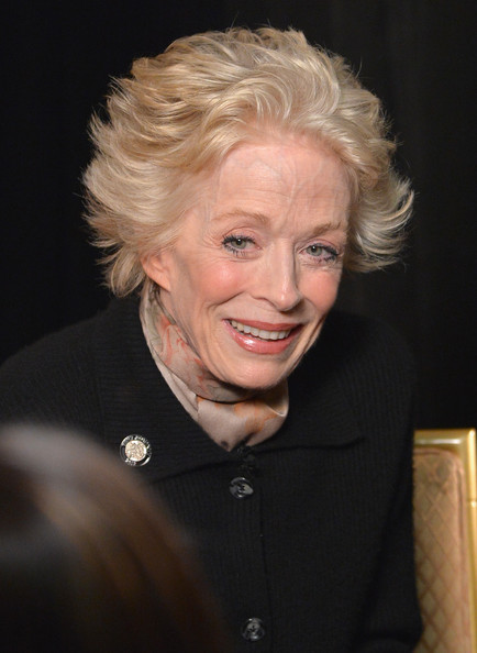 Holland Taylor Messy Cut [hair,face,blond,hairstyle,chin,human,smile,wrinkle,official,holland taylor,tony awards,new york city,meet the nominees press reception]