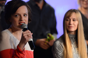 "Holly Hunter Elisabeth Moss Press Conference for Sundance Channel Original Series ""Top of the Lake"" - 2013 Park City"