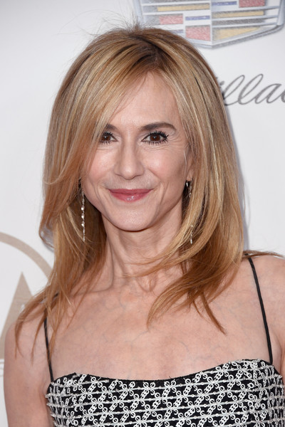 Holly Hunter The Rachel [hair,blond,human hair color,hairstyle,beauty,layered hair,chin,eyebrow,long hair,shoulder,arrivals,holly hunter,the beverly hilton hotel,beverly hills,california,annual producers guild awards]