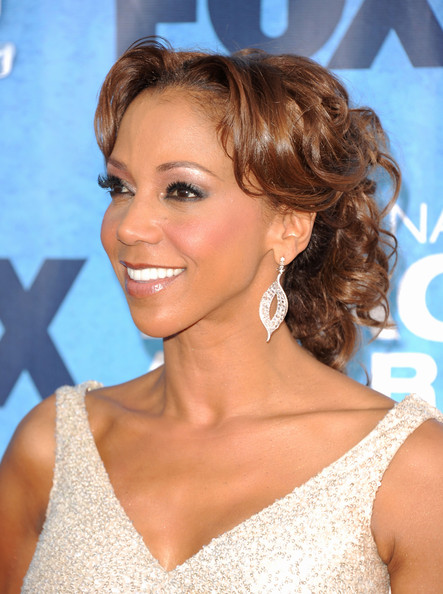 Holly Robinson Peete Pinned Up Ringlets