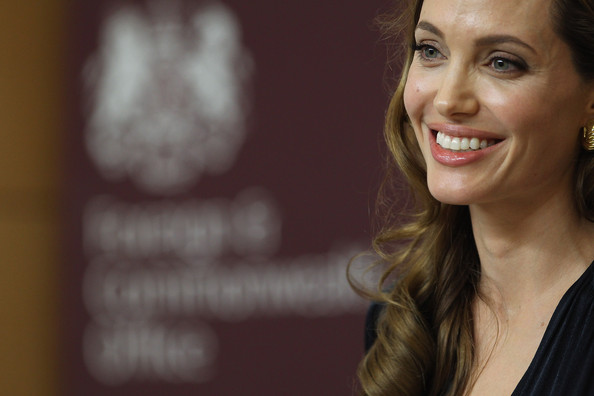 More Pics of Angelina Jolie Long Side Part (3 of 15) - Angelina Jolie Lookbook - StyleBistro