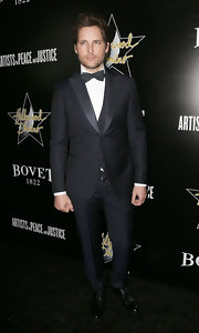 Peter Facinelli looked suave and debonair in a classic tux at the Hollywood Domino and Bovet 1822 event in Hollywood.