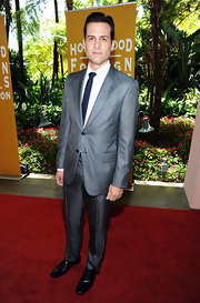Gabriel looked so polished and put together in this gray suit.