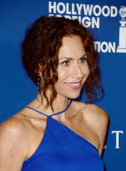 Minnie Driver pulled her curls back into a messy, loose updo for the Hollywood Foreign Press Association's Grants Banquet.