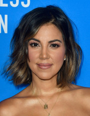 Liz Hernandez was chicly coiffed with messy waves at the HFPA Grants Banquet.
