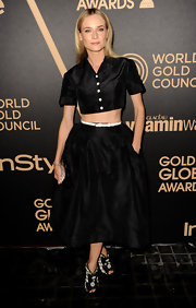 Diane might be the only one who can pull off a crushed velvet crop-top on the red carpet.