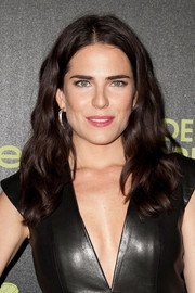 Karla Souza wore her hair down in a wavy cascade during the Golden Globe Award season celebration.