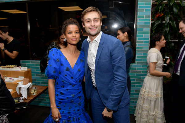 More Pics of Gugu Mbatha-Raw Cocktail Ring  (1 of 5) - Gugu Mbatha-Raw Lookbook - StyleBistro [blue,event,yellow,fashion,friendship,formal wear,dress,fun,ceremony,restaurant,gugu mbatha-raw,douglas booth,l-r,west hollywood,california,hollywood foreign press association and the hollywood reporter celebration,the golden globe ambassadors,golden globe awards season,the hollywood reporter celebration]