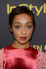 Ruth Negga sported a neat pixie at the HFPA and InStyle Golden Globe Award season celebration.