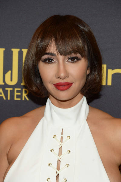Jackie Cruz opted for a classic and cute bob when she attended the HFPA and InStyle Golden Globe Award season celebration.