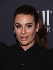 Lea Michele went for a classic ponytail when she attended the Golden Globes 75th anniversary celebration.
