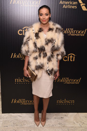 Selita Ebanks made an ultra-glam statement with this fur coat at the Hollywood Reporter's 35 Most Powerful People in Media event.