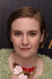 Lena Dunham was fresh-faced at the Hollywood Reporter's 35 Most Powerful People in Media event wearing this simple short 'do and minimal makeup.