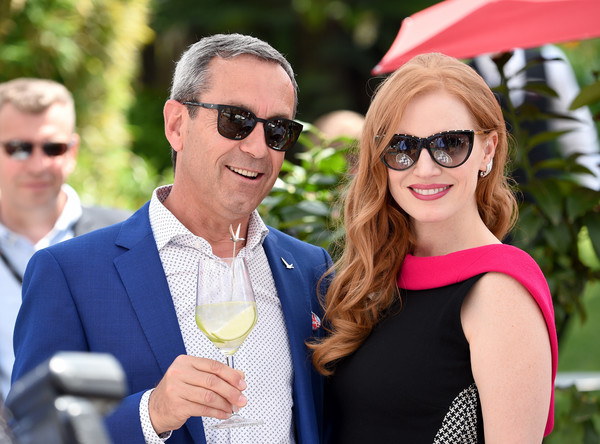 More Pics of Jessica Chastain Cateye Sunglasses (1 of 21) - Jessica Chastain Lookbook - StyleBistro [eyewear,people,event,yellow,sunglasses,fashion,fun,glasses,leisure,vision care,reporter,grey goose cellar master francois thibault,jessica chastain,grey goose terrace,hollywood,cannes,france,directv,l,cannes film festival]