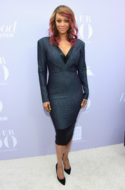 Tyra Banks rocked denim so stylishly at the Women in Entertainment Breakfast!