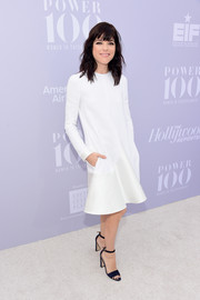 Selma Blair kept in minimal yet elegant in this long-sleeve LWD during the Women in Entertainment Breakfast.