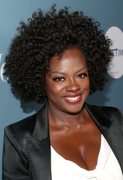Viola Davis attended the Hollywood Reporter's Power 100 Women in Entertainment event rocking a cool afro.
