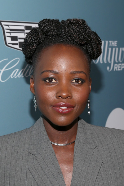 Lupita Nyong'o styled her hair into a cute crown braid for the Hollywood Reporter's Power 100 Women in Entertainment event.