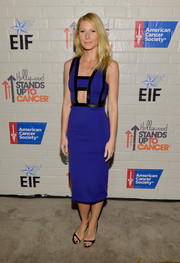 Gwyneth Paltrow worked a sexy, modern vibe in a cobalt David Koma cutout dress during the Hollywood Stands Up to Cancer event.