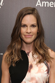 Hilary Swank wore her hair down with edgy waves during the 35 Most Powerful People in Media event.