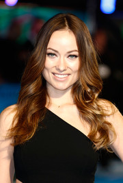 Olivia Wilde looked gorgeous with long wavy hair at the London premiere of 'Horrible Bosses 2.'