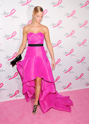 Erin Heatherton paired her Barbie gown with these darling sheer bowed heels.