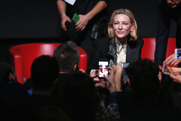More Pics of Cate Blanchett Pantsuit (1 of 30) - Cate Blanchett Lookbook - StyleBistro [the house with a clock in its walls,red,event,games,fashion,fun,design,performance,recreation,hand,photography,cate blanchett,auditorium parco della musica,rome,italy,photocall - 13th rome film fest,press conference]