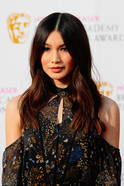 Gemma Chan topped off her look with hippie-glam center-parted waves when she attended the House of Fraser BAFTA TV Awards.