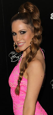 Kimberly Cole arrived at House of Hype's 2011 MTV Video Music Awards after party with a pretty plaited 'do.