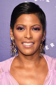 Tamron Hall sported a short side-parted hairstyle at the Groundbreaker Awards.