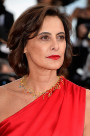Ines de la Fressange attended the Cannes Film Festival premiere of 'How to Train Your Dragon 2' wearing her hair in a classic bob.