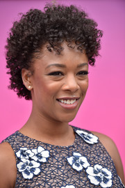 Samira Wiley looked cute with her tight curls at the Hulu Upfront brunch.