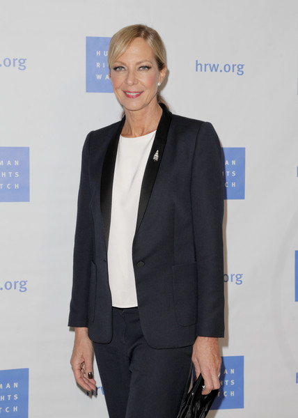More Pics of Allison Janney Ponytail (1 of 6) - Allison Janney Lookbook - StyleBistro [human rights watch hosts annual voices for justice annual dinner,voices for justice dinner,human rights watch,suit,clothing,outerwear,pantsuit,blazer,formal wear,fashion,white-collar worker,event,businessperson,beverly hills,california,the beverly hilton hotel,allison janney]