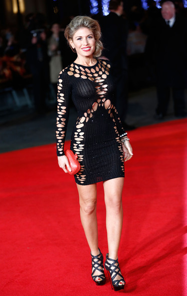 Hofit Golan left little to the imagination with this tight black cutout mini during the 'Hunger Games: Mockingjay Part 1' premiere.