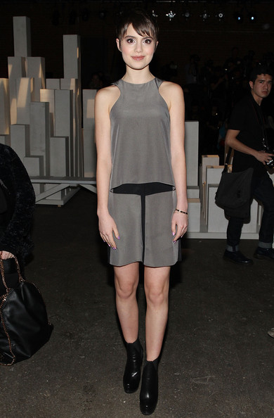 Sami Gayle added some edge with a pair of black ankle boots.