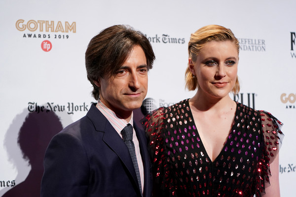 More Pics of Greta Gerwig Short Side Part (5 of 22) - Short Side Part Lookbook - StyleBistro [red carpet,premiere,hairstyle,fashion,red carpet,carpet,event,dress,white-collar worker,flooring,suit,noah baumbach,greta gerwig,new york city,cipriani wall street,ifp,29th annual gotham independent film awards]