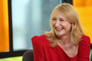 Patricia Clarkson wore her hair in a flippy style at the IMDb Studio during the 2018 Toronto International Film Festival.