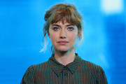 Imogen Poots sported her signature messy updo at the IMDb Studio event.