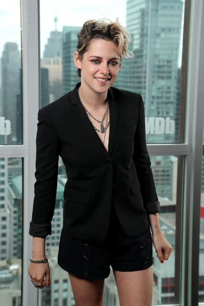 Kristen Stewart attended the IMDb Studio event during the 2019 Toronto International Film Festival wearing a pair of black sailor shorts by A.L.C.