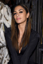Nicole Scherzinger opted for this straight layered cut when she attended the Sports Illustrated Swimsuit 2016 celebration.