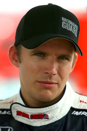 Dan Wheldon promoted his sponsor, the National Guard, with this simple black baseball cap.
