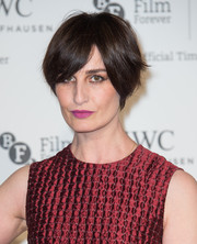 Erin O'Connor sported a short wedge haircut at the 2014 IWC Gala.