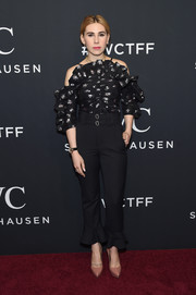 Zosia Mamet sported a flurry of ruffles at the IWC Schaffhausen Tribeca Film Festival event.