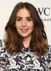 Alison Brie styled her hair with high-volume waves for the IWC Schaffhausen gala.