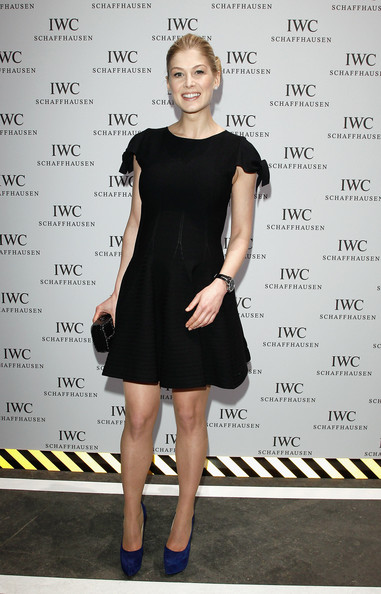 More Pics of Rosamund Pike Bobby Pinned Updo (3 of 3) - Rosamund Pike Lookbook - StyleBistro